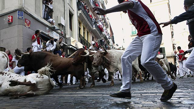 Limpio último encierro de San Fermín 2011, de Núñez del Cuvillo