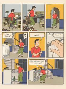 """""""Línea clara"""", página de '99 ejercicios de estilo' de Matt Madden"""