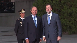 Ver vídeo  'Llegada de Rajoy a la Conferencia de Presidentes'