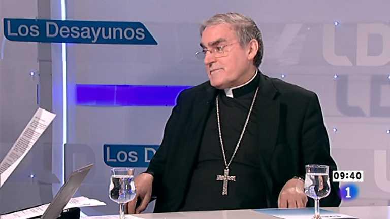Los desayunos de TVE - Lluis Martínez-Sistach, cardenal arzobispo de Barcelona; Oriol Pujol, presidente de CiU en el Parlament de Catalunya