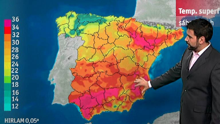 Lluvias d&eacute;biles en Galicia y el Cant&aacute;brico
