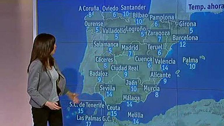 Lluvias en Galicia y en el este peninsular