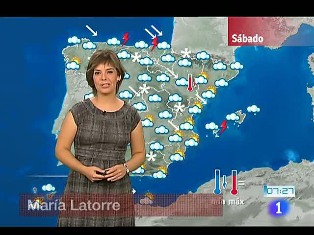 Lluvias localmente fuertes en Cántábrico, noreste peninsular y Baleares