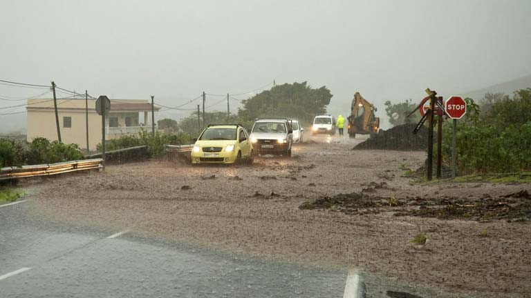 Lluvias torrenciales en Canarias