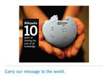 Logo del 10º aniversario de Wikipedia