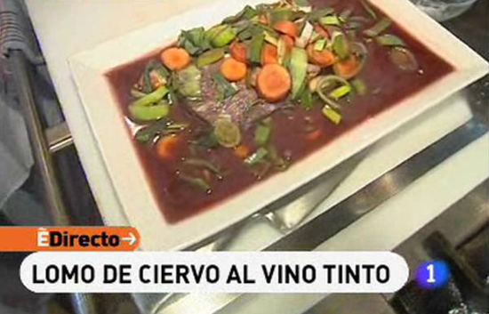 Espa&ntilde;a Directo - Lomo de ciervo al vino tinto