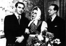 Lorca junto con Margarita Xirgu y Cipriano Rivas Cherif