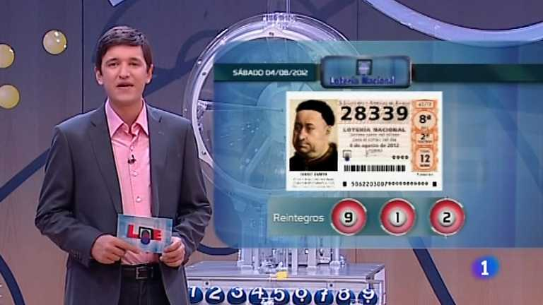 Loter&iacute;a Nacional - 04/08/12