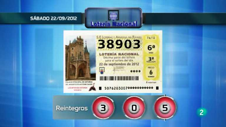 Loteria viajera - 22/09/12