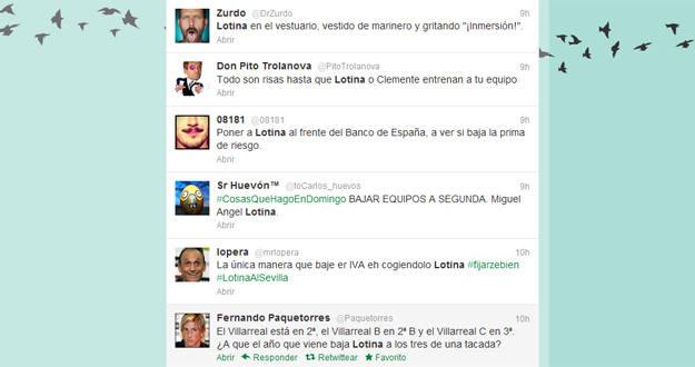 Imagen de algunos de los tweets más ingeniosos que se pueden leer en Twitter.