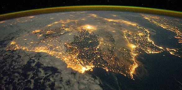 Las luces de la Península Ibérica captadas desde la ISS