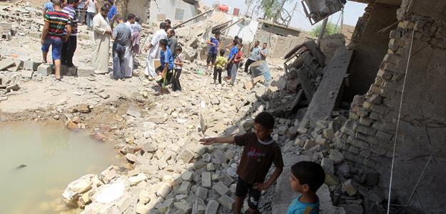 Lugar de una de las explosiones de este pasado lunes en Taji, norte de Irak