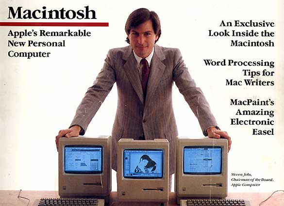 Ejemplar de la revista MacWorld en 1984, a&ntilde;o de la presentaci&oacute;n del primer Macintosh
