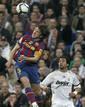 Messi, quién si no, apareció para marcar su séptimo gol al Real Madrid, el primero de la cuenta en la noche del Bernabéu del 10 de abril.