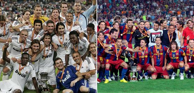 Madridistas y azulgranas levantan la Supercopa.