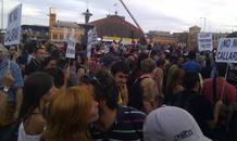 La manifestación en Atocha