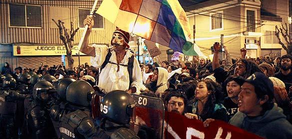 Manifestación contra la aprobación del proyecto Hidroaysén en Valparaíso