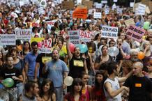 Manifestación del 15M en Madid