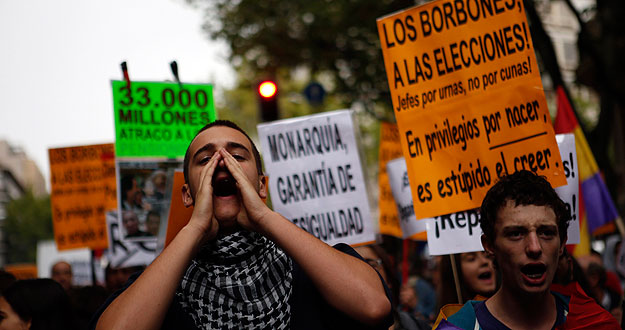 Una marcha pedirá este sábado la abolición de la monarquía en España 1380396586845