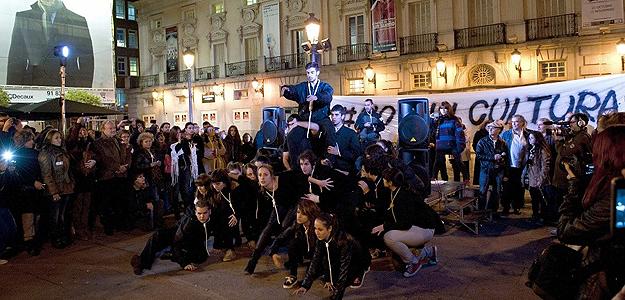Manifestación en Madrid en defensa de la cultura