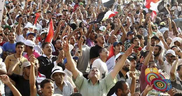 Manifestación por el restablecimiento del Parlamento egipcio