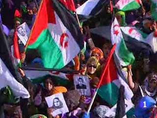 Ver v?deo  'Manifestaciónes en campamentos saharauis enTinduf'