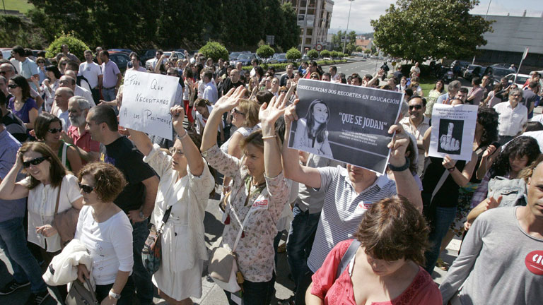 Más de 80 manifestaciones convocadas por los sindicatos en contra de los recortes
