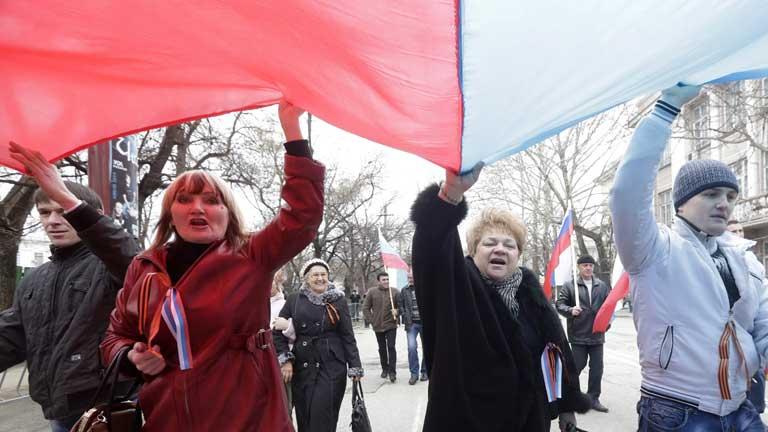 Manifestaciones pro-rusas en todas las ciudades del este de Ucrania