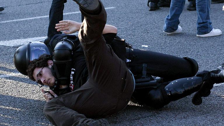 Los disturbios en las protestas estudiantiles de Barcelona terminan con tres detenidos