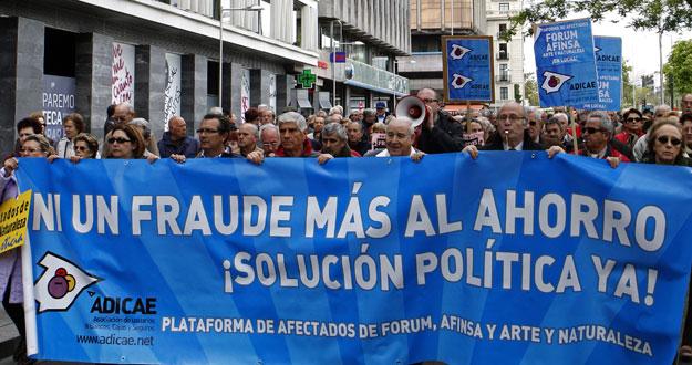 MANIFESTACIONES EN EL SEXTO ANIVERSARIO DEL FRAUDE DE FORUM AFINSA