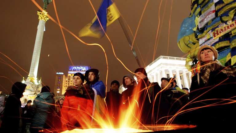 El pulso en Kiev, un día más, lo han marcado las manifestaciones