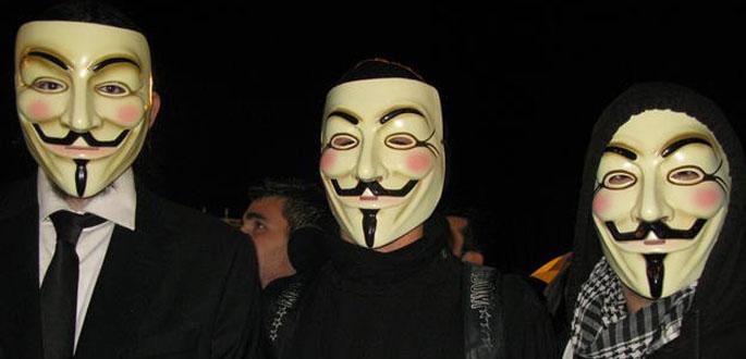 Los manifestantes que protestaron contra la ley Sinde llevaban puesta la careta de Guy Fawkes, de 'V de Vendetta'
