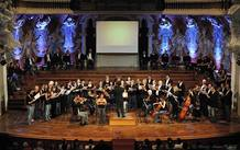 Celebraci&oacute;n del d&iacute;a de la M&uacute;sica en el Palau de la M&uacute;sica Catalana. M&aacute;s de 200 artistas de toda Catalu&ntilde;a acudieron al Estimem la M&uacute;sica 2012, un espect&aacute;culo participativo de m&uacute;sica, danza y teatro