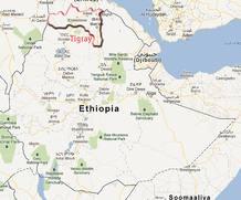 Mapa de Etiopía.