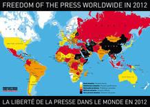 Mapa de la libertad de prensa en el mundo, según Reporteros sin Fronteras