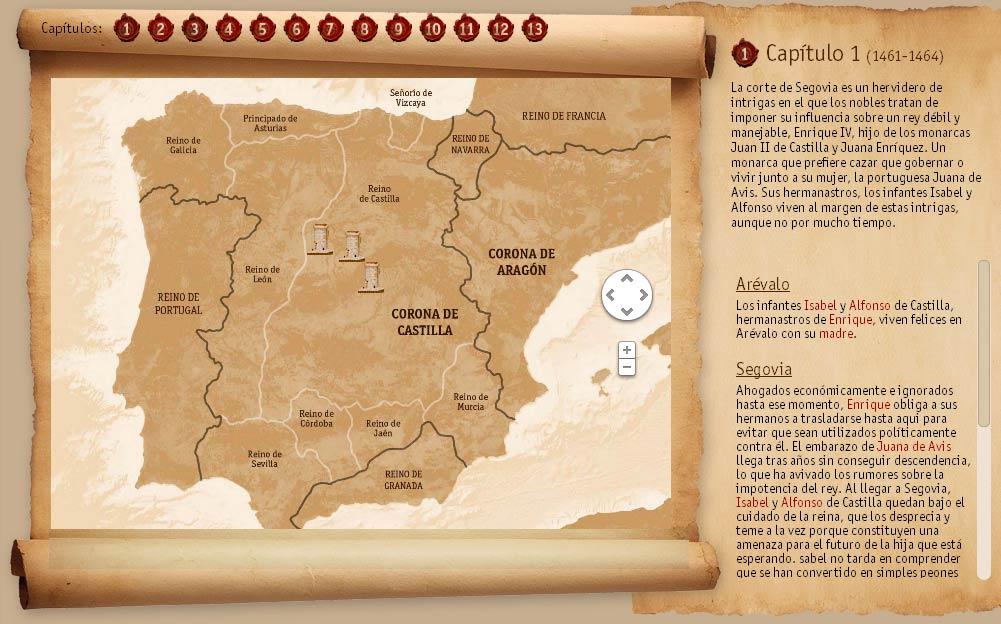 El mapa de los lugares históricos del capítulo 1