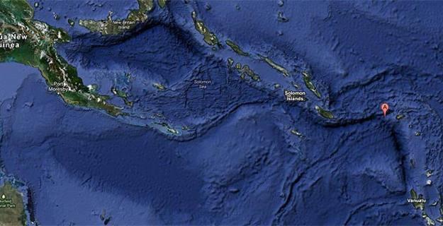 Mapa de la zona dónde se ha producido el terremoto en las islas Salomón