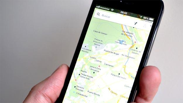 Imagen de los mapas de Google que ya están disponibles para iPhone.
