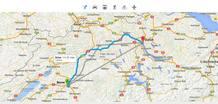 Los mapas indicarán las opciones de transporte y tiempo.
