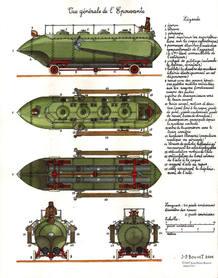 Máquina descrita por Verne en sus libros