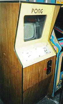 La máquina original de Pong que data de 1972.