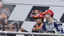 "Ir al Video Marc Márquez, feliz pero prudente: ""Lorenzo y Pedrosa son favoritos"""