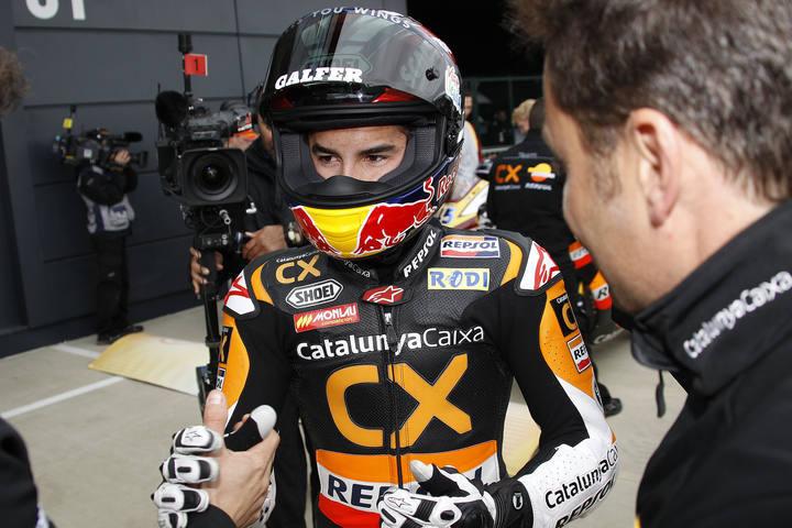 Marc Márquez tendrá que recuperarse de la operación en la vista antes de arrancar el mundial de Moto2 de 2012.