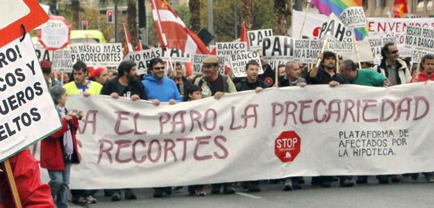 Marcha contra el paro, la precariedad y los recortes