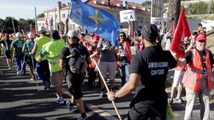 Ver vídeo  'La marcha minera llega a la Comunidad de Madrid y prepara su semana reivindicativa'