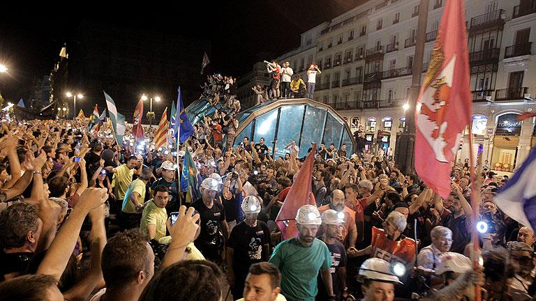 La Marcha Negra llega a la Puerta del Sol después de 19 días de camino