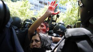 Ver vídeo  'La marcha negra termina con cargas contra los mineros.'