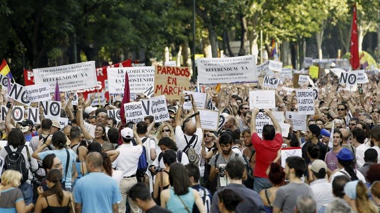 Marcha de parados en Madrid
