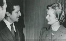 Margaret Thatcher con el presidente del Gobierno Adolfo Suárez en 1977, dos años antes de ser elegida primera ministra.