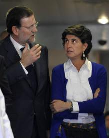 El lider del PP, Mariano Rajoy, junto a María San Gil , en una imagen de archivo.